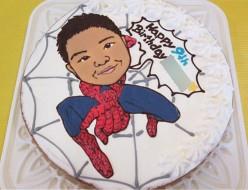 似顔絵ケーキ、スパイダーマン