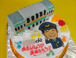 湘南新宿ラインと似顔絵ケーキ