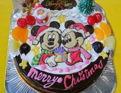 ミッキーとミニーのクリスマスケーキ