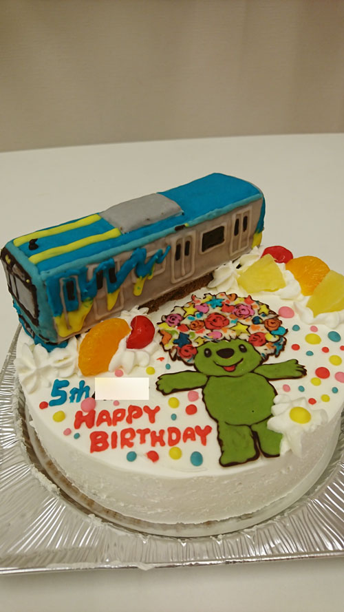 みなとみらい線電車ケーキ