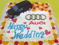 アウディ車ウェディングケーキ