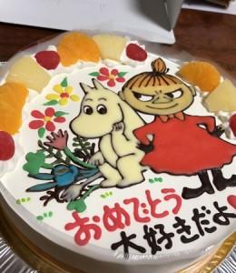 ムーミンとミーのケーキ