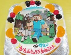 マインクラフトイラストケーキ