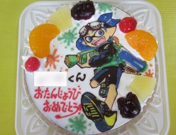 Splatoon(スプラトゥーン)のボーイケーキ
