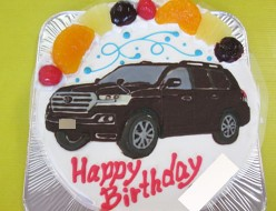 ランドクルーザー車イラストケーキ