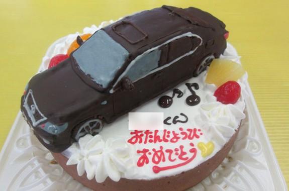 レクサス車立体のせケーキ