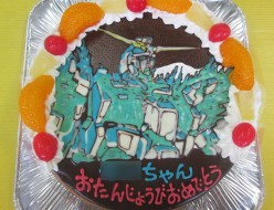 ユニコーンガンダムイラストケーキ