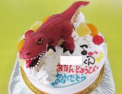 ティラノサウル立体ケーキ