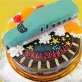 新幹線はやぶさ立体ケーキ