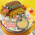 トトロとネコバスケーキ