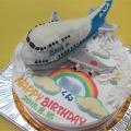 飛行機立体ケーキ