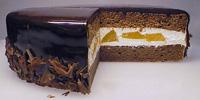 ガナッシュチョコケーキ断面図