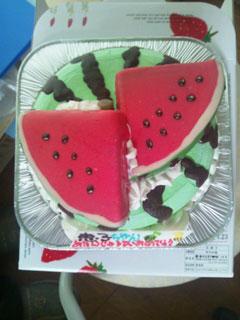 スイカケーキ
