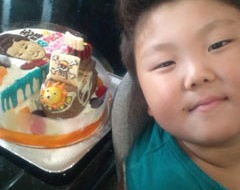ドラムケーキと、サニー号のケーキ♪