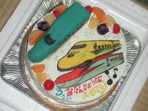 ドクターイエロー、はやぶさ、スーパーこまち立体ケーキ