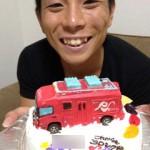 レスキュー隊消防車立体ケーキ