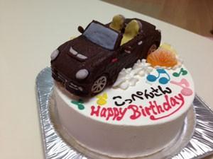 コペン車立体ケーキ