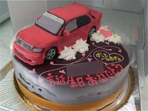 車立体ケーキ