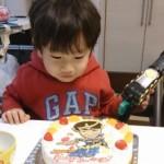 仮面ライダーガイムに変身似顔絵ケーキ♪