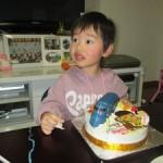 ラピートとおさるのジョージと似顔絵のケーキ