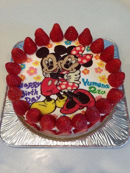 ミッキーとミニーのケーキ