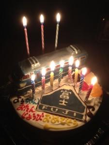 寝台特急富士立体ケーキ