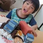 モンスタージープとトレーラー立体ケーキ