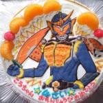 仮面ライダーとアンパンマンのケーキ