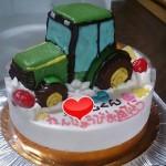 トラクター立体ケーキ