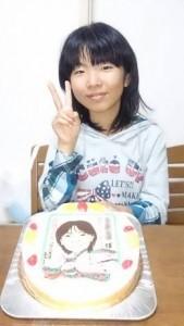 お姫様になった似顔絵ケーキ