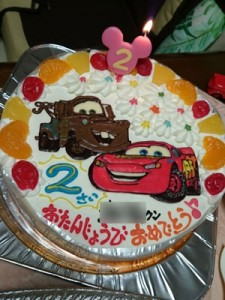 カーズ、メーターイラストケーキ