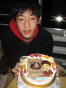 ワンピースブルック手配書イラストケーキ