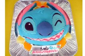 スティッチ顔ケーキ