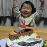TOYOTAのアクア車立体ケーキ