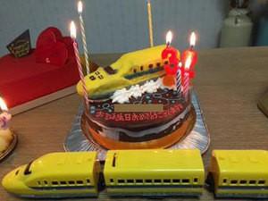 ドクターイエロー立体ケーキ