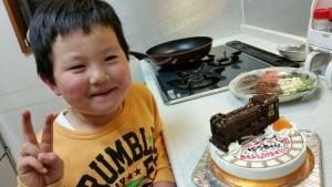 蒸気機関車SL立体ケーキ