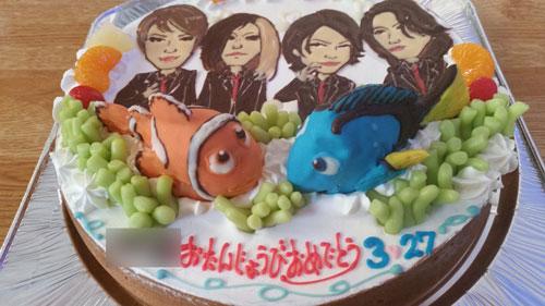 ファインディング・ニモと似顔絵のケーキ