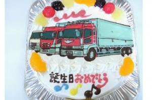 トラックイラストケーキ