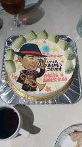 還暦似顔絵ケーキ
