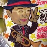 還暦祝いの似顔絵ケーキ(ご来店のお客様)