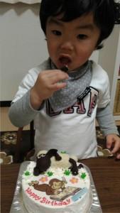 ひつじのションとおさるのジョージのケーキ