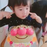 アンパンマン顔ケーキ