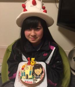 似顔絵ケーキ(受験イメージ)
