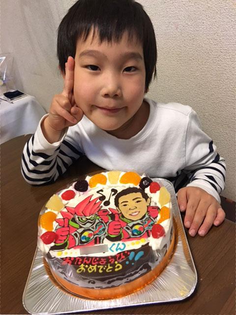 仮面ライダーエグゼイドと似顔絵のケーキ