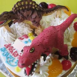 ティラノサウルスとスピノサウルス恐竜ケーキ