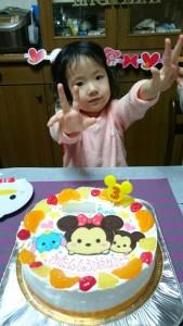 LINEツムツムイラストケーキ