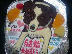 犬イラストケーキ