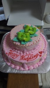 2段のミニウェディングケーキ