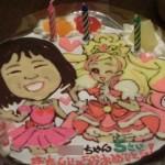 プリキュアとコスプレ似顔絵ケーキ