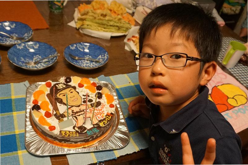 野球選手の似顔絵ケーキ